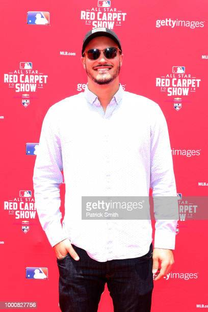 Nolan Arenado of the Colorado Rockies and the National League attends the 89th MLB AllStar Game presented by MasterCard red carpet at Nationals Park...