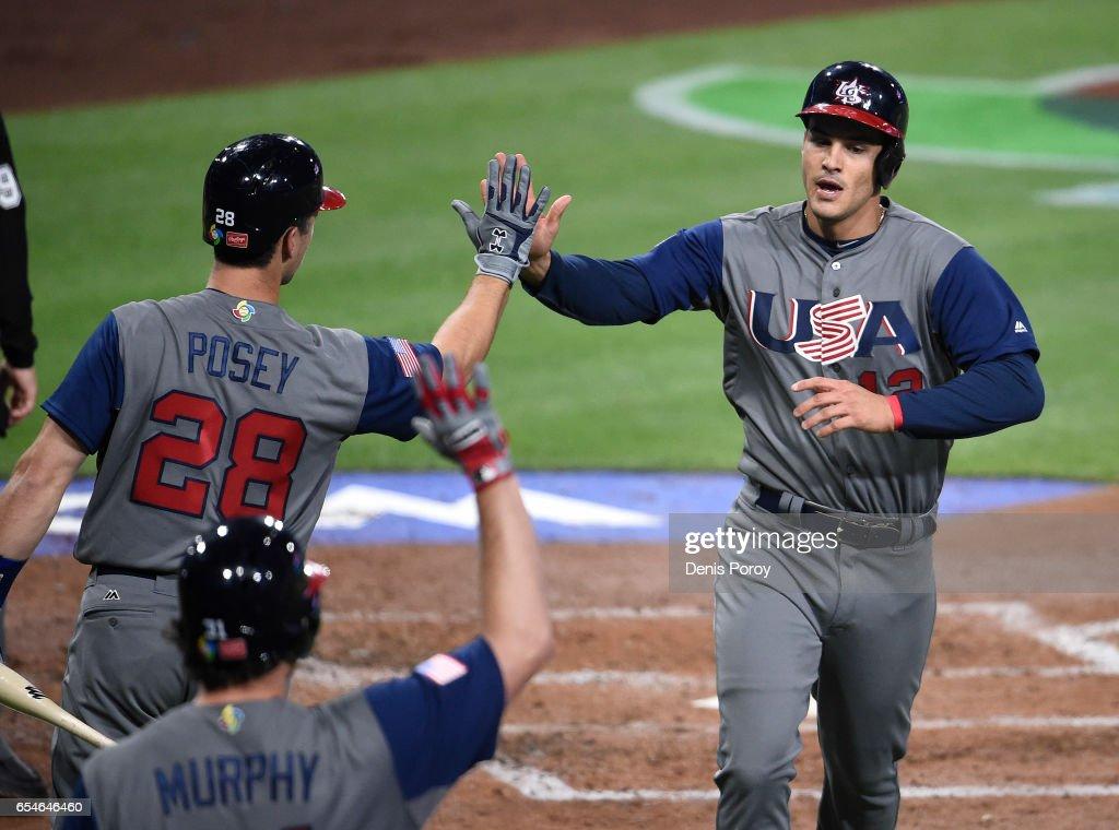 World Baseball Classic - Pool F - Game 4 - United States v Puerto Rico