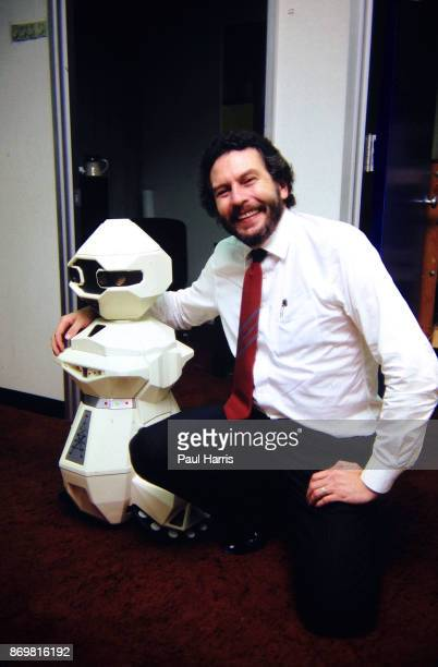 Nolan Bushnell with a TOPO Robot he founded Atari in 1972 and is known as one of the founding fathers of video gaming later he launched a popular...