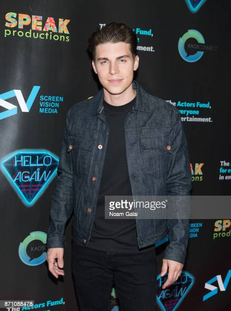 Nolan Gerard Funk attends the Hello Again New York premiere at Cinepolis Chelsea on November 6 2017 in New York City