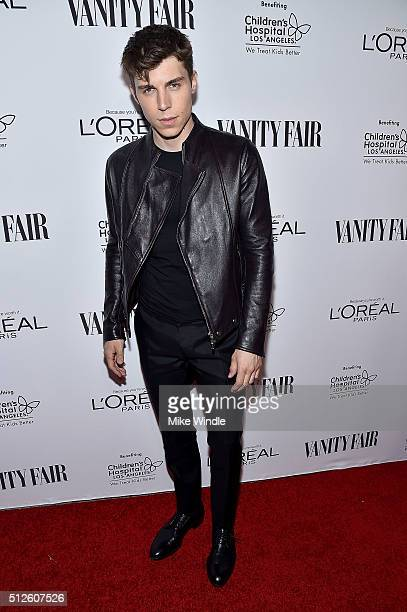 Nolan Gerard Funk attends Vanity Fair L'Oreal Paris Hailee Steinfeld host DJ Night at Palihouse Holloway on February 26 2016 in West Hollywood...