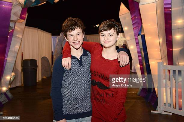 Nolan Gould and Joey King attend The Queen Mary's annual holiday event CHILL at The Queen Mary on January 5 2014 in Long Beach California