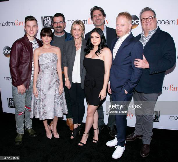 Nolan Gould Sarah Hyland Ty Burrell Julie Bowen Ariel Winter Steven Levitan Jesse Tyler Ferguson and Eric Stonestreet arrives for the FYC Event for...