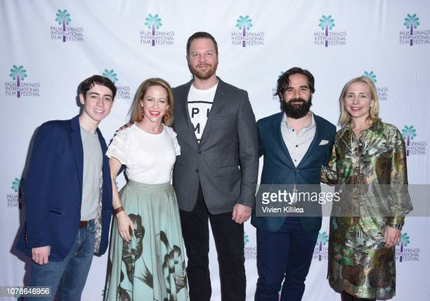 Nolan Lyons Amy Hargreaves Jim Parrack Nick Frangione and Lecy Goranson attend a screening of Buck Run at the 30th Annual Palm Springs International...