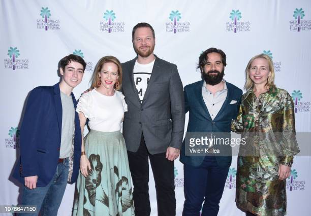 Nolan Lyons Amy Hargreaves Jim Parrack Nick Frangione and Lecy Goranson attend a screening of 'Buck Run' at the 30th Annual Palm Springs...