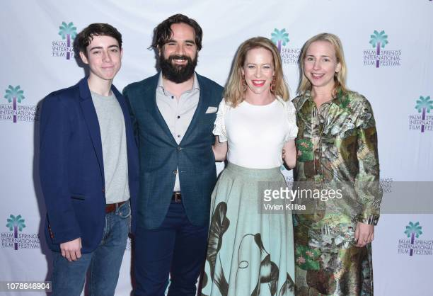 Nolan Lyons Nick Frangione Amy Hargreaves and Lecy Goranson attend a screening of 'Buck Run' at the 30th Annual Palm Springs International Film...