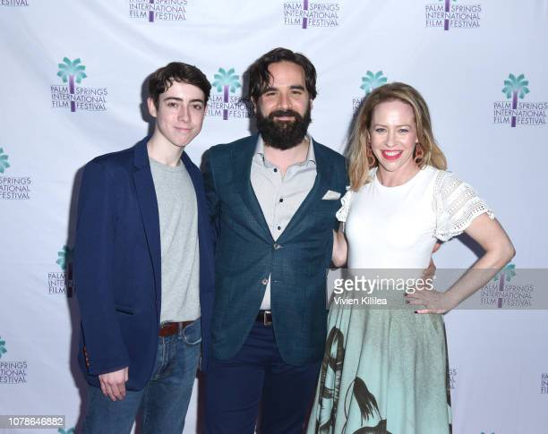 Nolan Lyons Nick Frangione and Amy Hargreaves attend a screening of 'Buck Run' at the 30th Annual Palm Springs International Film Festival on January...