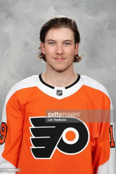 Nolan Patrick of the Philadelphia Flyers poses for his official headshot for the 20192020 season on September 12 2019 at the Virtua Flyers Skate Zone...