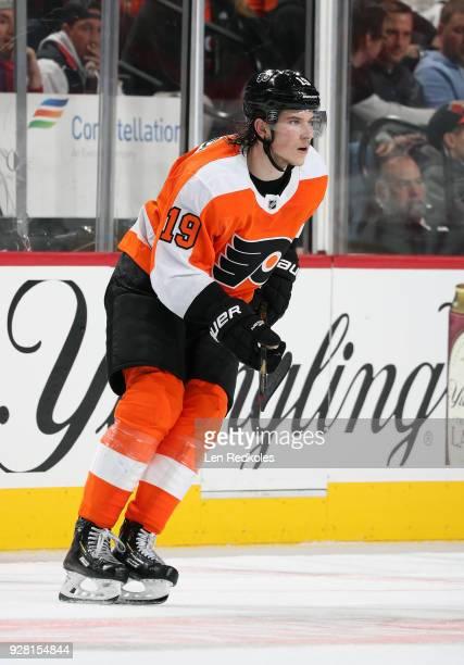 Nolan Patrick of the Philadelphia Flyers skates against the Carolina Hurricanes on March 1 2018 at the Wells Fargo Center in Philadelphia Pennsylvania