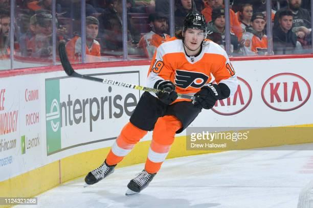 Nolan Patrick of the Philadelphia Flyers skates against the Dallas Stars at Wells Fargo Center on January 10 2019 in Philadelphia Pennsylvania