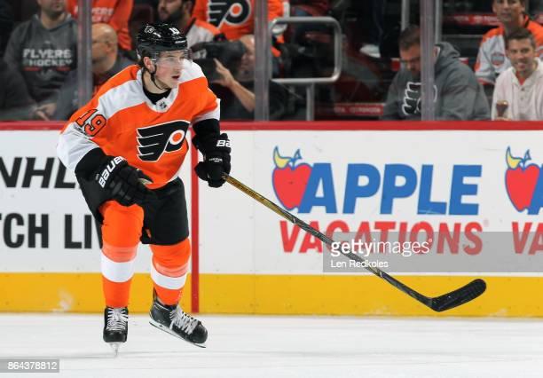 Nolan Patrick of the Philadelphia Flyers skates against the Florida Panthers on October 17 2017 at the Wells Fargo Center in Philadelphia Pennsylvania