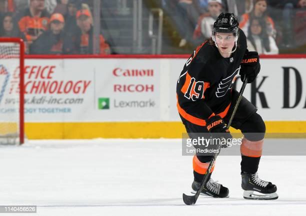 Nolan Patrick of the Philadelphia Flyers skates against the New York Rangers on March 31 2019 at the Wells Fargo Center in Philadelphia Pennsylvania