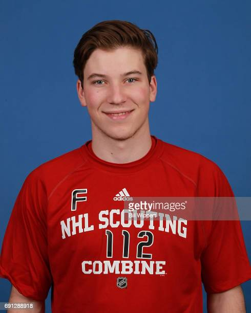 Nolan Patrick poses for a headshot at the NHL Combine at HarborCenter on June 1 2017 in Buffalo New York
