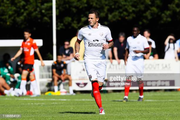 Nolan Roux of Guingamp during the Friendly match between Guingamp and Lorient on July 13 2019 in Guingamp France