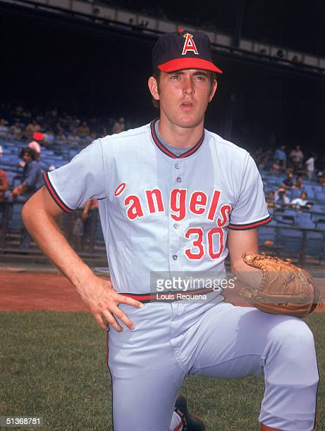 Nolan Ryan of the California Angels poses for a portrait Nolan Ryan played for the California Angels from 19721979