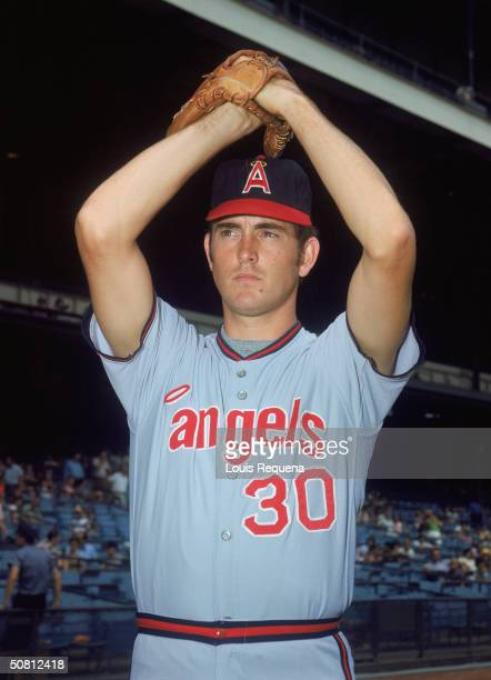 Nolan Ryan of the California Angels poses for a portrait. Ryan played for the Angels from 1972-1979.