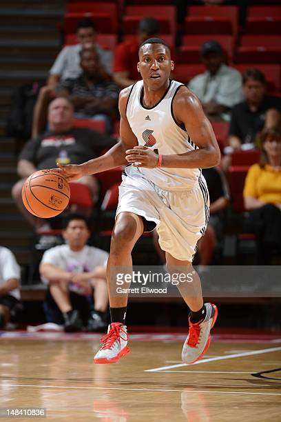 Nolan Smith of the Portland Trail Blazers drives against the New Orleans Hornets during NBA Summer League on July 15 2012 at the Thomas Mack Center...