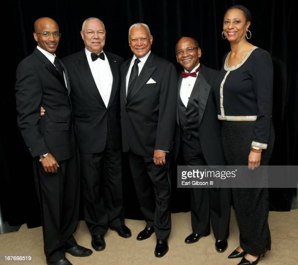 Nolan V Rollins General Colin Powell John W Mack Noel Massie and Chris StrudwickTurner pose for a photo at The 40th Annual Whitney M Young Jr Awards...