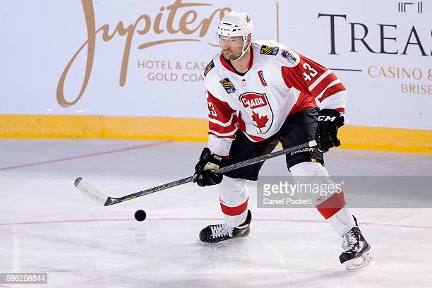 Nolan Yonkman of Canada during the 2015 Ice Hockey Classic match between the United States of America and Canada at Rod Laver Arena on June 5 2015 in...