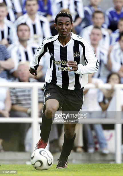 Nolberto Solano of Newcastle United in action during the Intertoto Cup 3rd round match between Newcastle United and Lillestrom at St James Park on...
