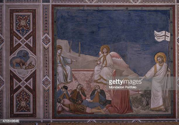 Noli me tangere by Giotto 13031305 14th Century fresco Italy Veneto Padua Scrovegni Chapel After restoration picture Whole artwork view Dressed in a...