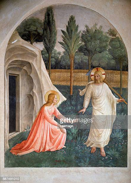 """""""Noli me tangere"""" by Giovanni da Fiesole known as Fra Angelico Museo di San Marco dell'Angelico, Florence, Italy"""