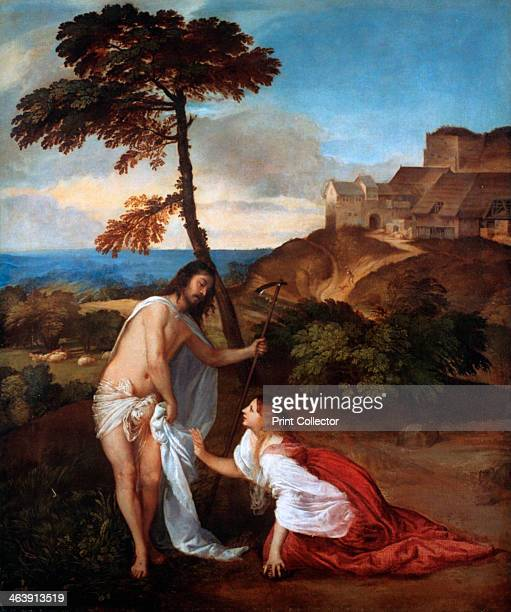 'Noli Me Tangere' c1514 Saint Mary Magdalene encounters Christ after his resurrection From the National Gallery London