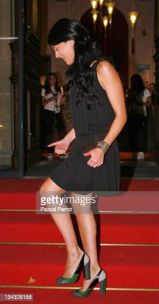 """Nolween arrives at the 14th edition of the association """"Fight Aids"""" gala concert at the Opera Theatre on October 6, 2007 in Avignon, France. The..."""