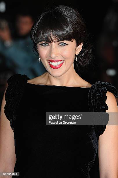 Nolwen Leroy poses as she arrives at NRJ Music Awards 2012 at Palais des Festivals on January 28 2012 in Cannes France