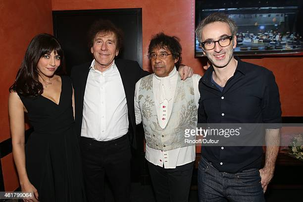 Nolwenn Leroy Alain Souchon Laurent Voulzy and Vincent Delerm attend the 10th Charity Gala Against Alzheimer's Disease At L'Olympia In Paris at...