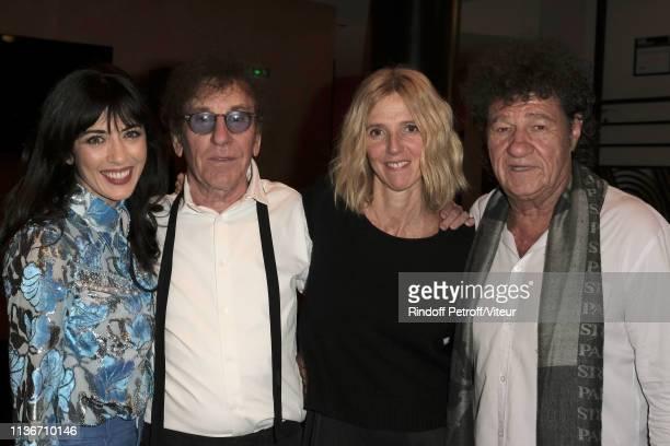 Nolwenn Leroy Alain Souchon Sandrine Kiberlain and Robert Charlebois attend the Charity Gala against Alzheimer's Disease At L'Olympia on March 18...