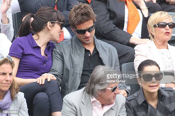 Nolwenn Leroy and Arnaud Clement sighted at The French Open at Roland Garros on June 9 2012 in Paris France