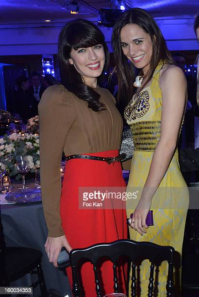 Nolwenn Leroy and Melissa Mars attend the Sidaction Gala Dinner 2013 at Pavillon d'Armenonville on January 24 2013 in Paris France