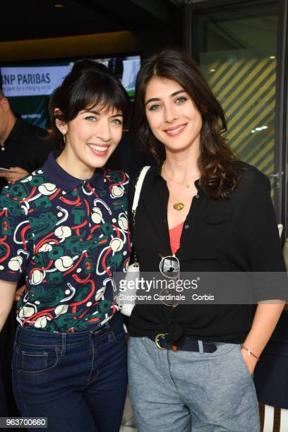 Nolwenn Leroy and Sandrine Calvayrac attend the 2018 French Open Day Four at Roland Garros on May 30 2018 in Paris France
