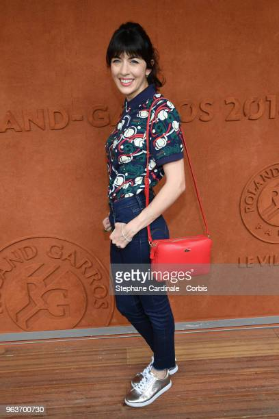 Nolwenn Leroy attends the 2018 French Open Day Four at Roland Garros on May 30 2018 in Paris France