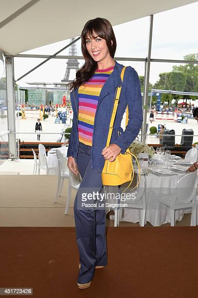 Nolwenn Leroy attends the Paris Eiffel Jumping presented by Gucci at ChampdeMars on July 5 2014 in Paris France