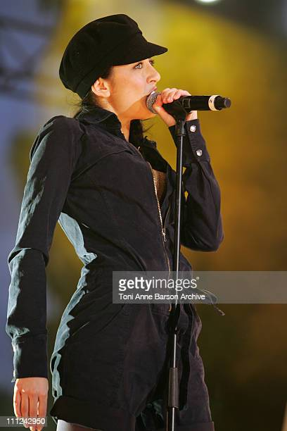 Nolwenn Leroy during Concert des Pieces Jaunes a Nice Yellow Coins Concert to Help Children in Hospitals at Theatre de Verdure in Nice France