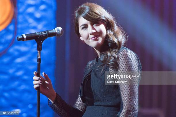 Nolwenn Leroy performs during Francofolies New York A Tribute To Edith Piaf at Beacon Theatre on September 19 2013 in New York City