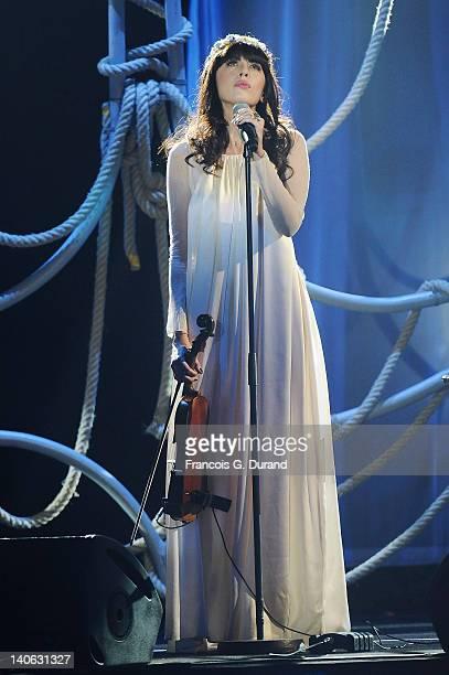Nolwenn Leroy performs during 'Les Victoires de La Musique 2012' at Palais des Congres on March 3 2012 in Paris France