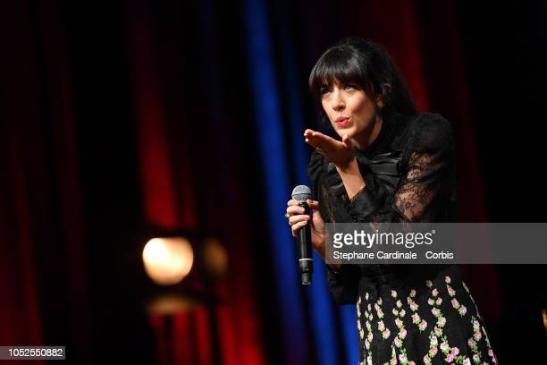 Nolwenn Leroy performs during the Prix Lumiere 2018 ceremony At the 10th Film Festival Lumiere on October 19 2018 in Lyon France