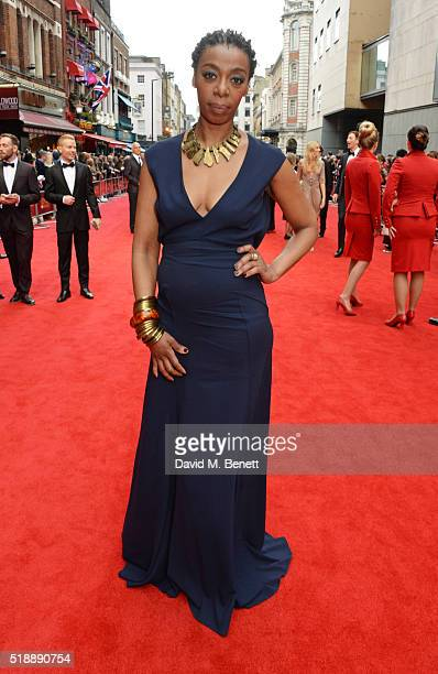 Noma Dumezweni arrives at The Olivier Awards with Mastercard at The Royal Opera House on April 3 2016 in London England