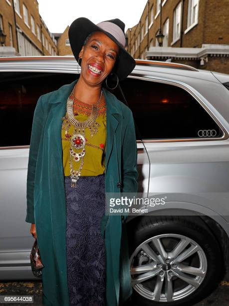 Noma Dumezweni arrives in an Audi at the Summer Party 199 for The Old Vic on June 13 2017 in London England