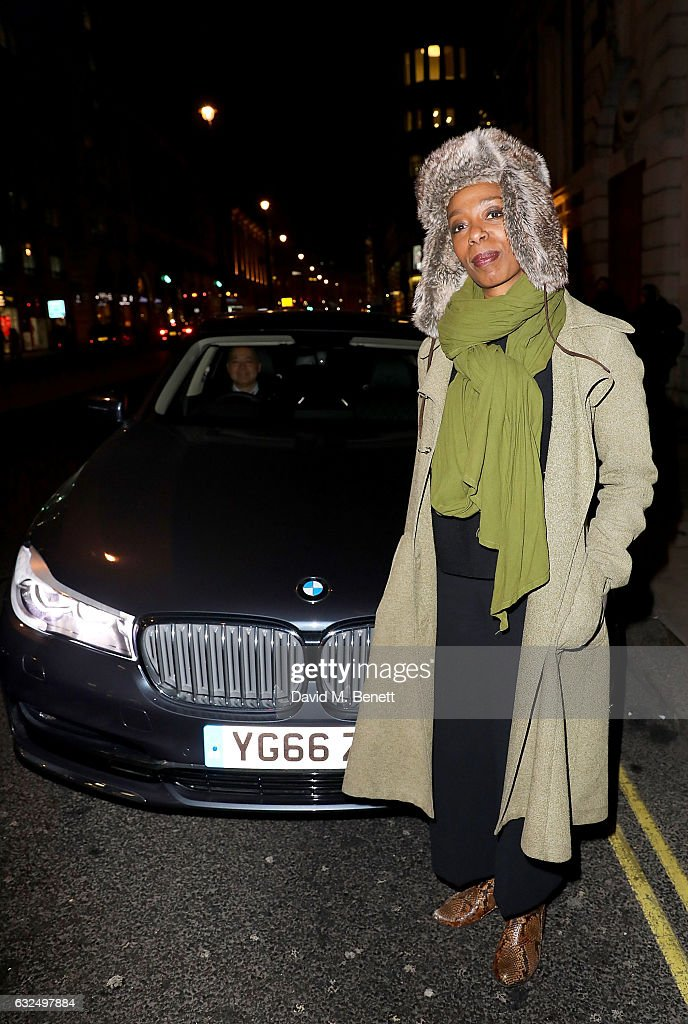 Noma Dumezweni arrives in style in the luxury BMW 7 Series at the Debrett's 500 Gala, at BAFTA on January 23, 2017 in London, England.