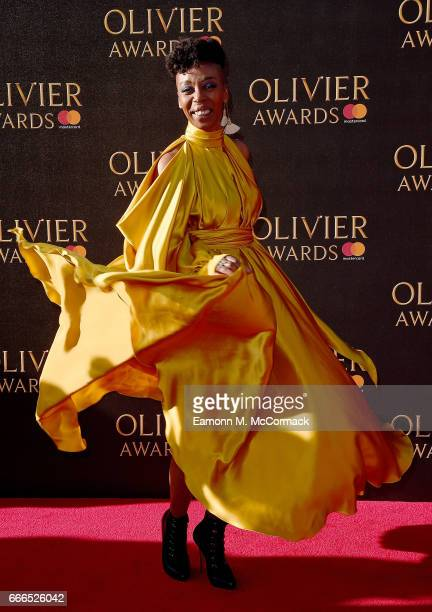 Noma Dumezweni attends The Olivier Awards 2017 at Royal Albert Hall on April 9 2017 in London England