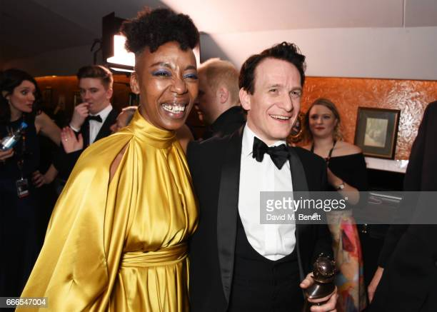 Noma Dumezweni winner of the Best Actress in a Supporting Role for 'Harry Potter And The Cursed Child' and Jamie Parker winner of the Best Actor...