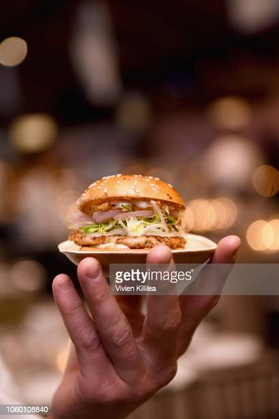 Nomad burger is seen during the 2018 Baby2Baby Gala Presented by Paul Mitchell at 3LABS on November 10 2018 in Culver City California