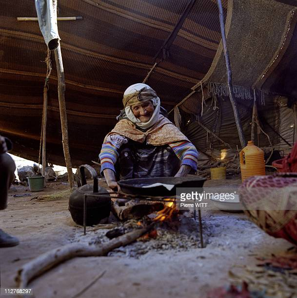 Nomad camp at Ed Diflia Figuig district Eastern Morocco