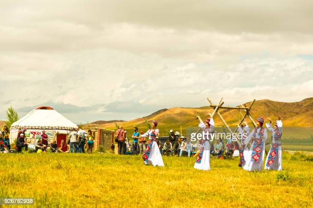 nomad festival in kyrgyzstan - kyrgyzstan stock photos and pictures