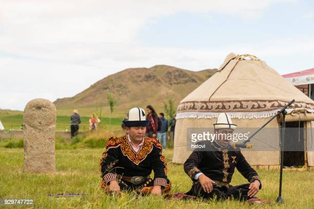 nomad festival in kyrgyzstan - kyrgyzstan stock pictures, royalty-free photos & images