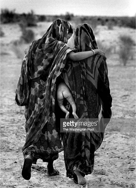 Nomadic people of Mali, living traditional ways, isolated from society.